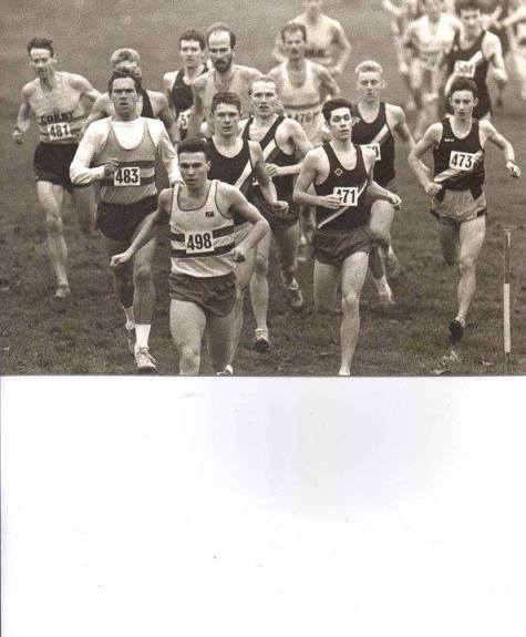 Opening stages of Northamptonshire County Cross Country Championships, Kettering, Dec.1989 wearing bib 498